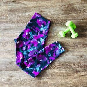 Lululemon floral purple leggings size 6